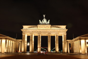 Berlin illuminated Brandenburg Gate