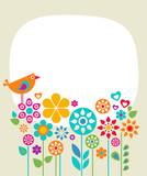 Fototapety Easter card template - 1