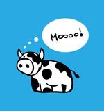 Cartoon cow card, poster design