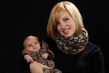 Mutter mit ihrem Baby