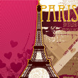 roleta: Eiffel tower artistic background
