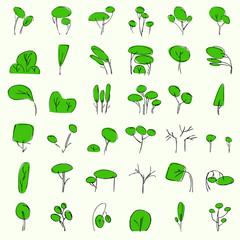 vectorial trees in summer