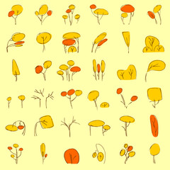 vectorial trees in autumn