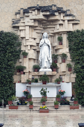 Our Lady of Lourdes, church of San Leonardo hill at Verona,Italy
