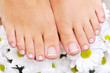 Beautiful skin care female feet