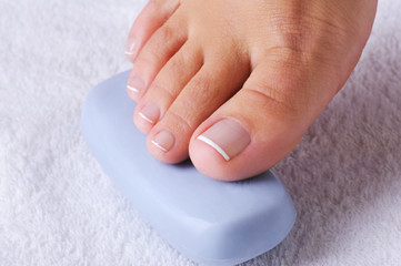 Cleanliness and hygiene of female feet