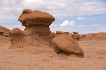Bizarre sandstone formations of Goblin Valley State Park, Utah