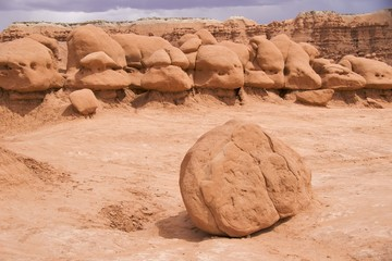 Oddly shaped boulders, Goblin Valley State Park, Utah