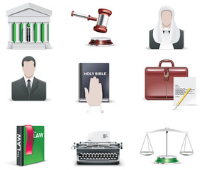 Vector law and order icon set. Part 1
