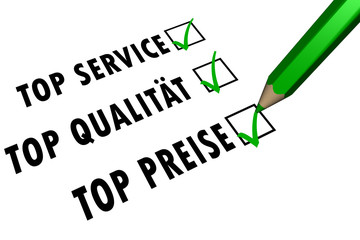 TOP Service - TOP Qualität - TOP Preise