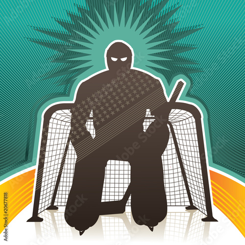 Hockey goalkeeper background