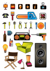 Household items isolated