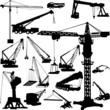 construction objects vector (crane)