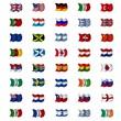 Großes Set Flaggen