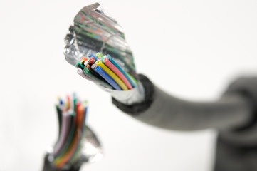 makro durchgeschnittenes video-Kabel