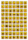 Pictogram set isolated on white poster