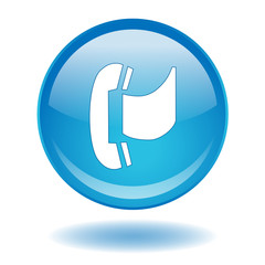 FAX Web Button (Facsimile Contact Internet Communication Vector)