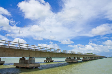 Bridge to island in south of Thailand