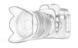 Outline of reflex camera poster