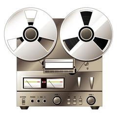 Retro hi-fi stereo system