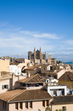 Palma de Mallorca; view over the rooftops; from the old city wal poster