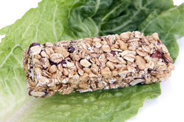 Granola Bar on Lettuce
