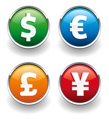 Money symbol buttons