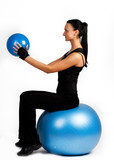 stretching exercise with ball
