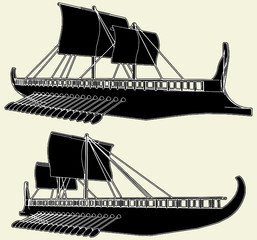 The Ancient Viking Ship Vector 01
