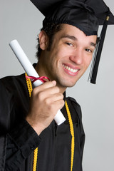 Young Man Graduating