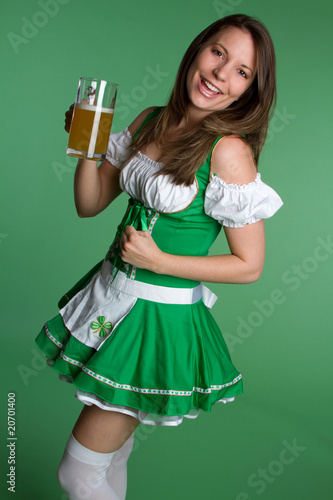 St Patricks Beer Girl