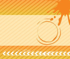Splash vector background with arrow