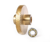 Bronze gear and ball bearing