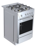 Silver free standing cooker poster