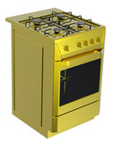 Gold free standing cooker poster