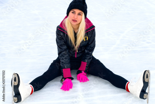 girl sitting on ice