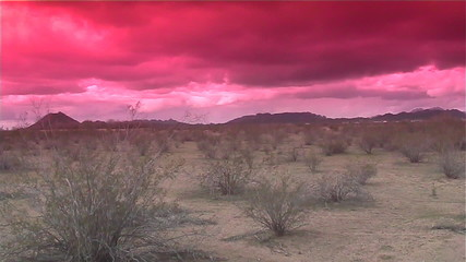 Sunset Desert storm
