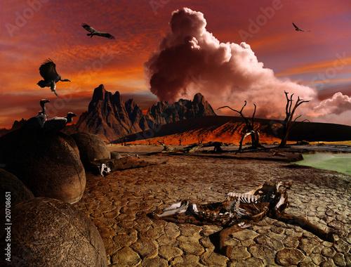 Apocalyptic fantasy landscape
