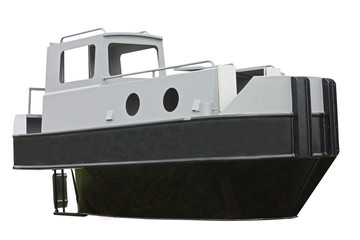 The Working Shell of a Brand New Canal Tug Barge.