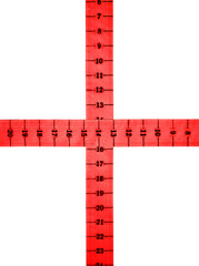 Red measure cross