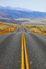 Magnificent American road and fencings
