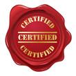 Certified wax seal