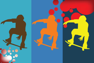 Abstract representation of skater silhouette