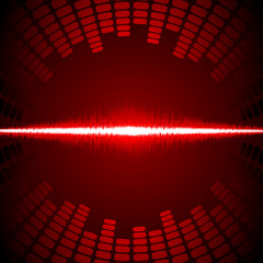 Equalizer with waveform vector background