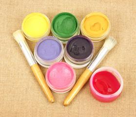 Stencil Paints Brushes