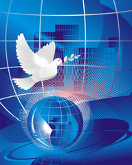 blue urban dove of peace