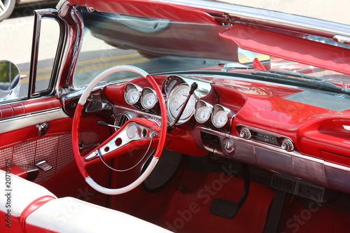 Foto op Aluminium Beijing Classic car interior