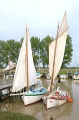 vieux bâteau sur l'estuaire de la Gironde