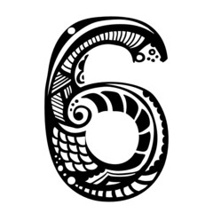 number ornament - 6 -