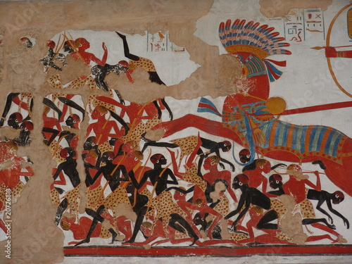 Egyptian mural painting with horse from thomas owen for Egypt mural painting